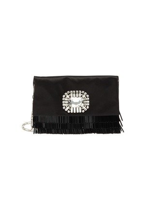 Main View - Click To Enlarge - JIMMY CHOO - 'Titania' embellished beaded fringe clutch