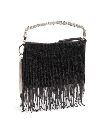 Detail View - Click To Enlarge - JIMMY CHOO - 'Callie' wristlet beaded fringe clutch