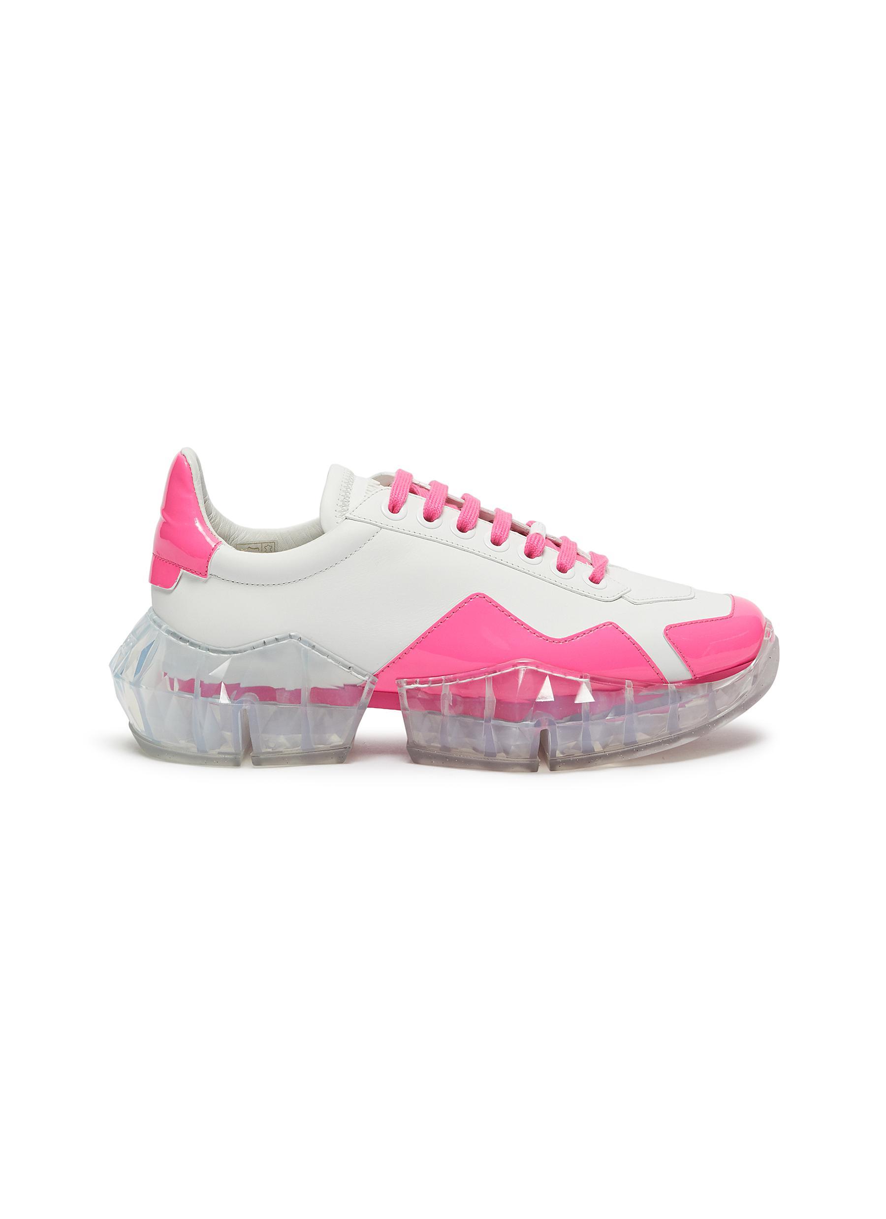 Jimmy Choo Sneakers x YK Jeong diamond trail contrast counter sneakers