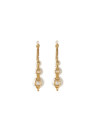 Main View - Click To Enlarge - TASAKI - 'Stretched' freshwater pearl 18k yellow gold earrings