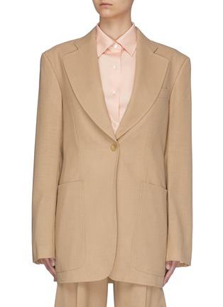 Main View - Click To Enlarge - SAMUEL GUÌ YANG - Buro Wool Jacket