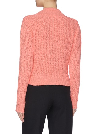 Back View - Click To Enlarge - SAMUEL GUÌ YANG - V-neck Yarn Sweater