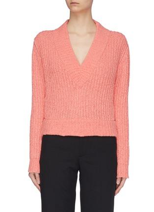 Main View - Click To Enlarge - SAMUEL GUÌ YANG - V-neck Yarn Sweater