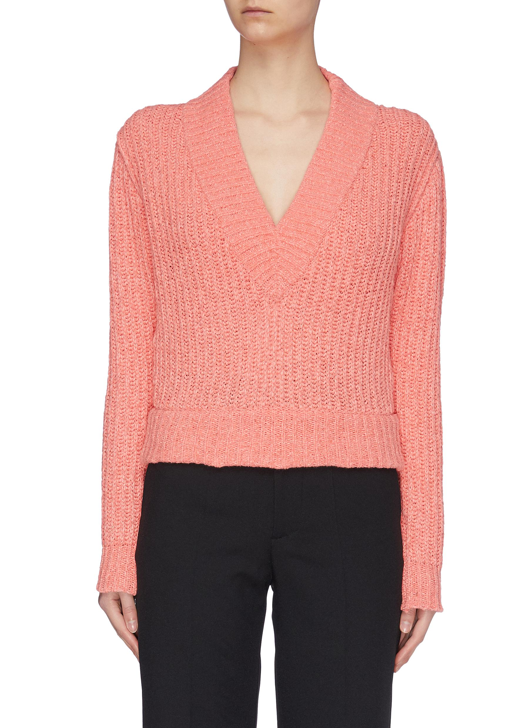 Buy Samuel Guì Yang Knitwear V-neck Yarn Sweater