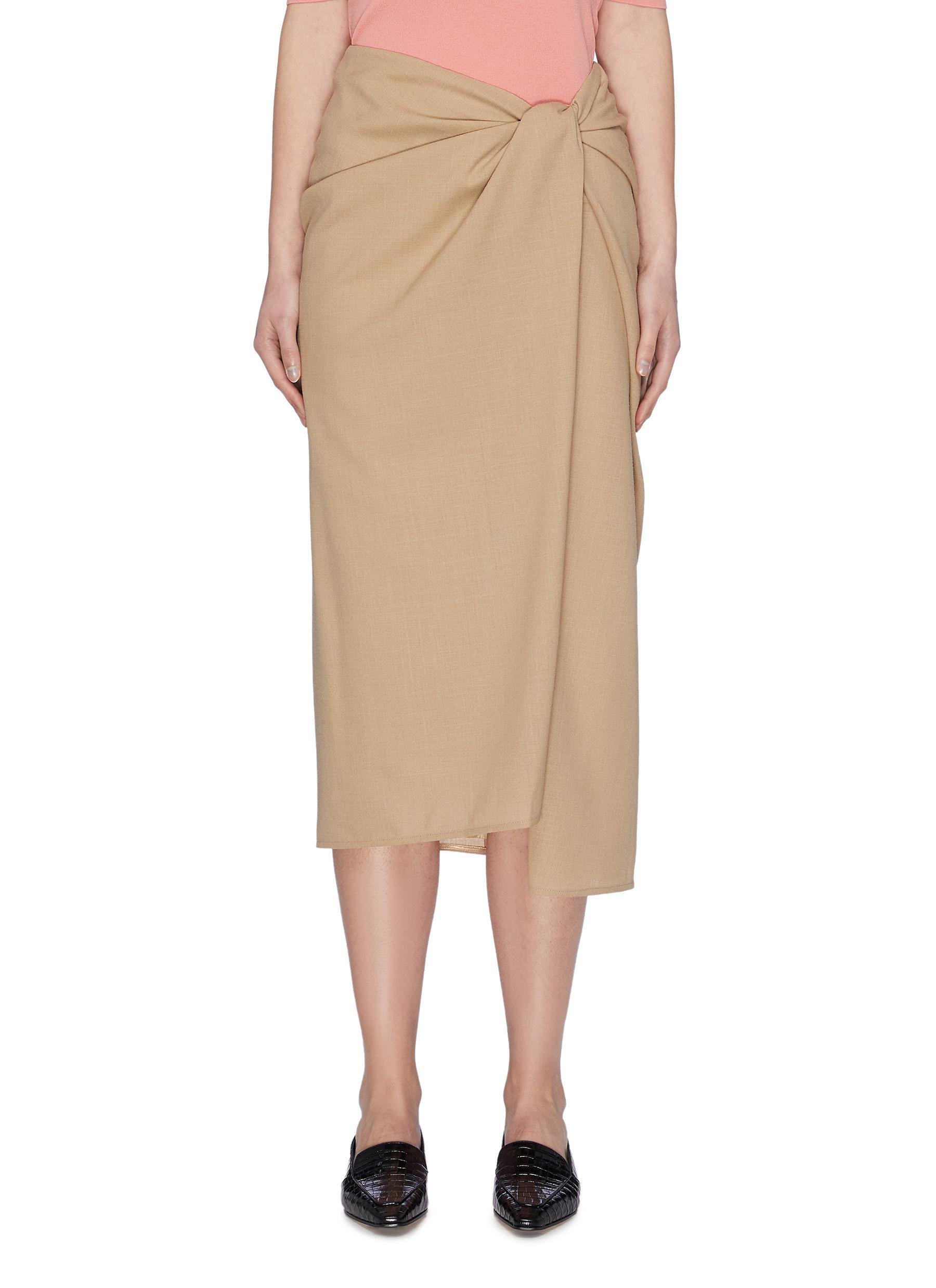 shop Samuel Guì Yang Wrap Midi Skirt online