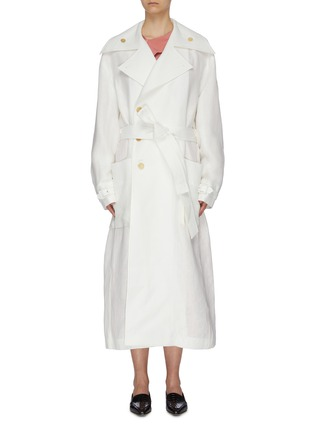 Main View - Click To Enlarge - SAMUEL GUÌ YANG - Double Breast Trench Coat