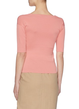 Back View - Click To Enlarge - SAMUEL GUÌ YANG - Square Neck Top