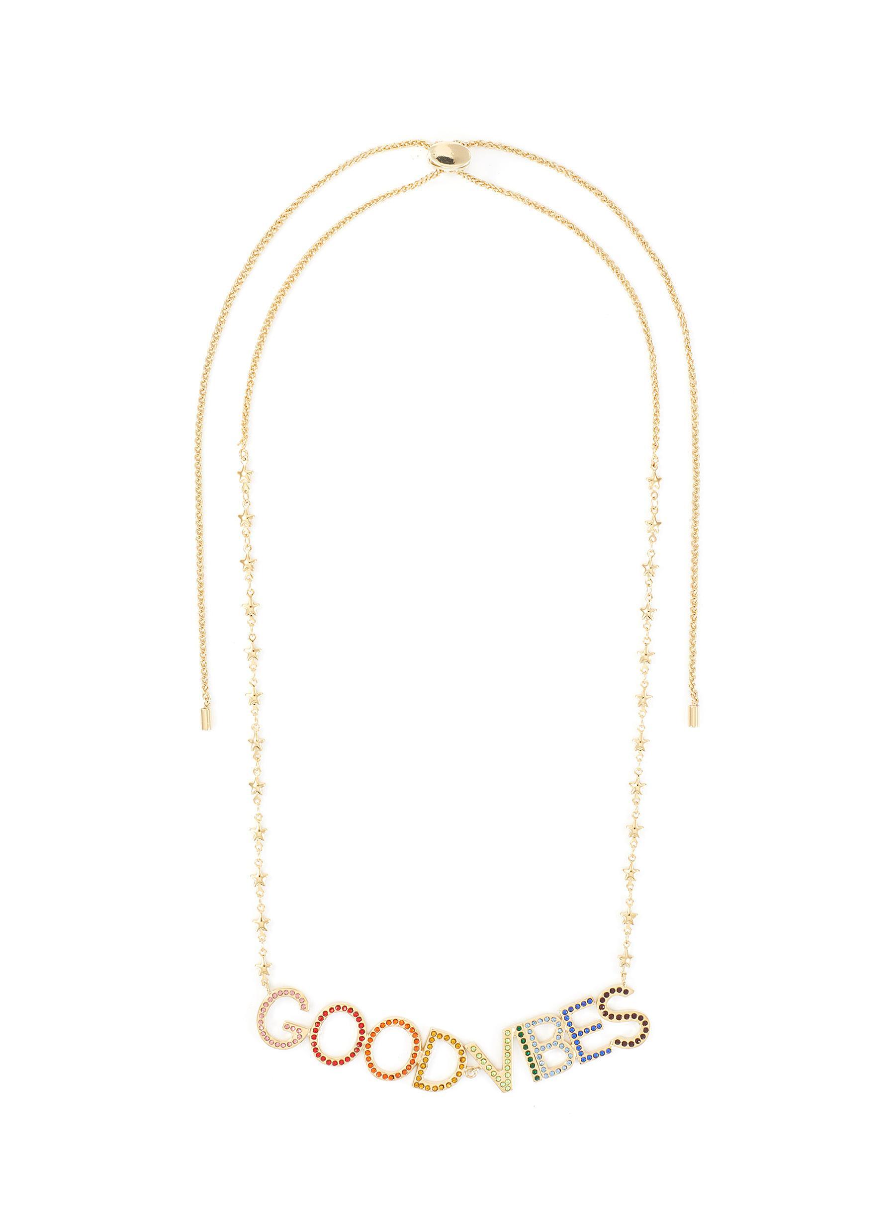 Bijoux De Famille 'good Vibes' Crystal Necklace In Multi-colour