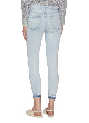 Back View - Click To Enlarge - FRAME DENIM - 'Le High Skinny' released hem crop skinny jeans