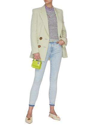 Figure View - Click To Enlarge - FRAME DENIM - 'Le High Skinny' released hem crop skinny jeans