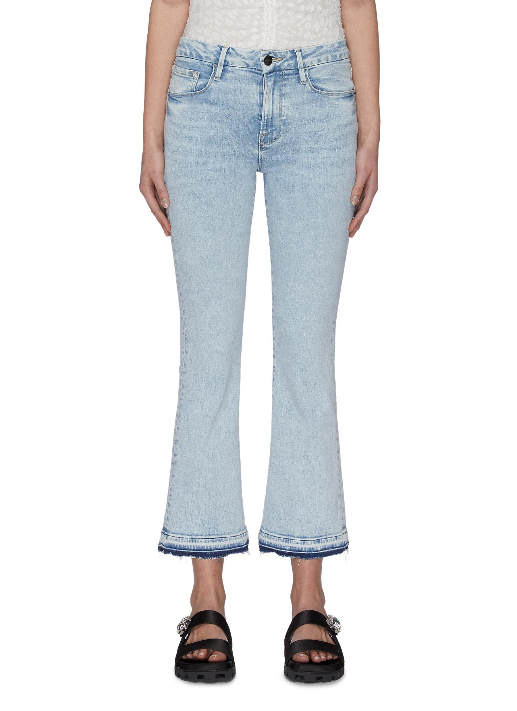 Buy Frame Denim Jeans 'Le Crop Mini Boot' released hem jeans