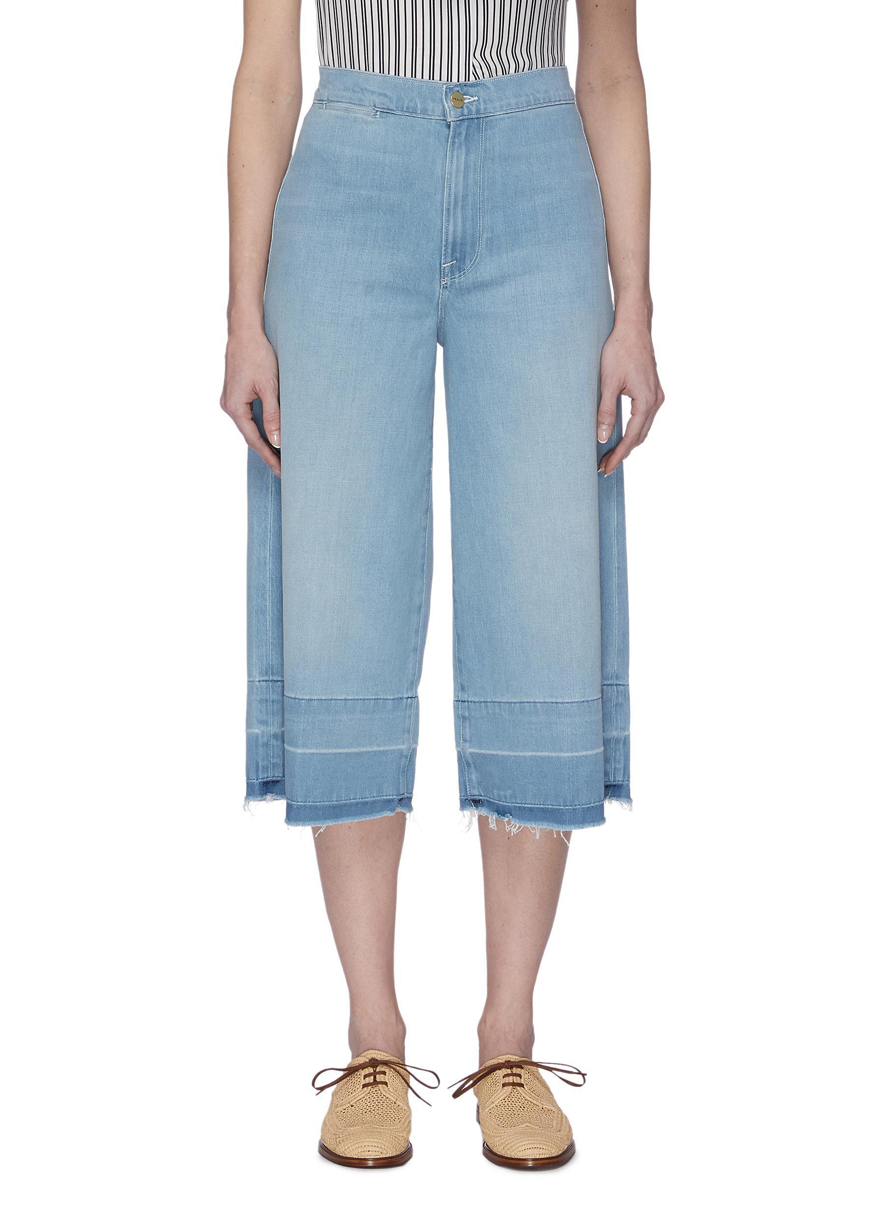 Buy Frame Denim Jeans Light Wash Culotte Jeans