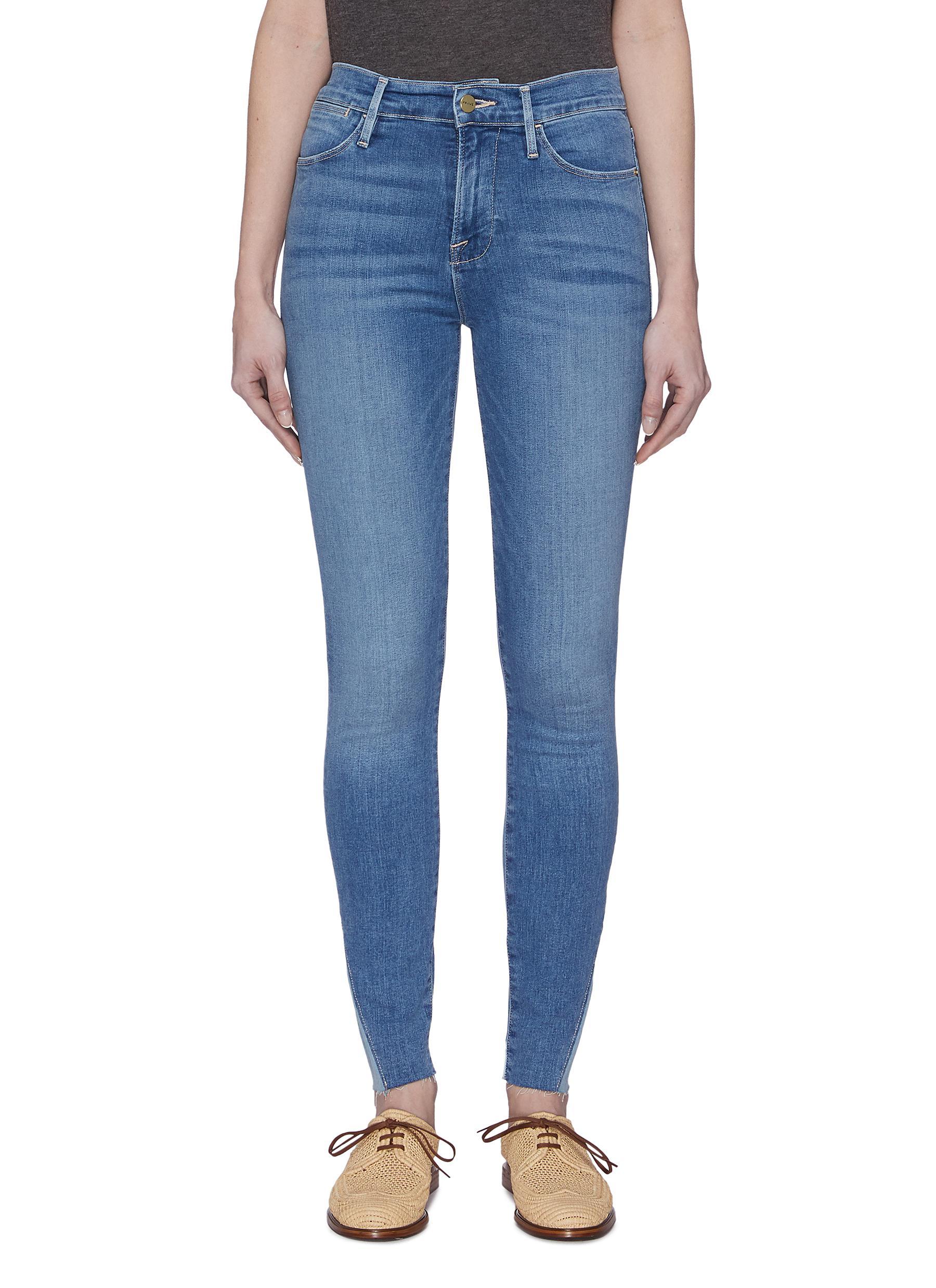 shop Frame Denim Raw Edge Skinny Jeans online