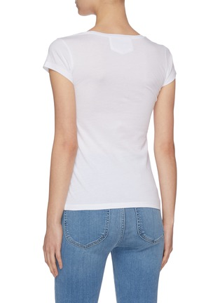 Back View - Click To Enlarge - FRAME DENIM - 'Le Scoop' mid rise T-shirt