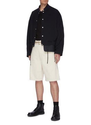 Figure View - Click To Enlarge - JIL SANDER - Belted Denim Shorts