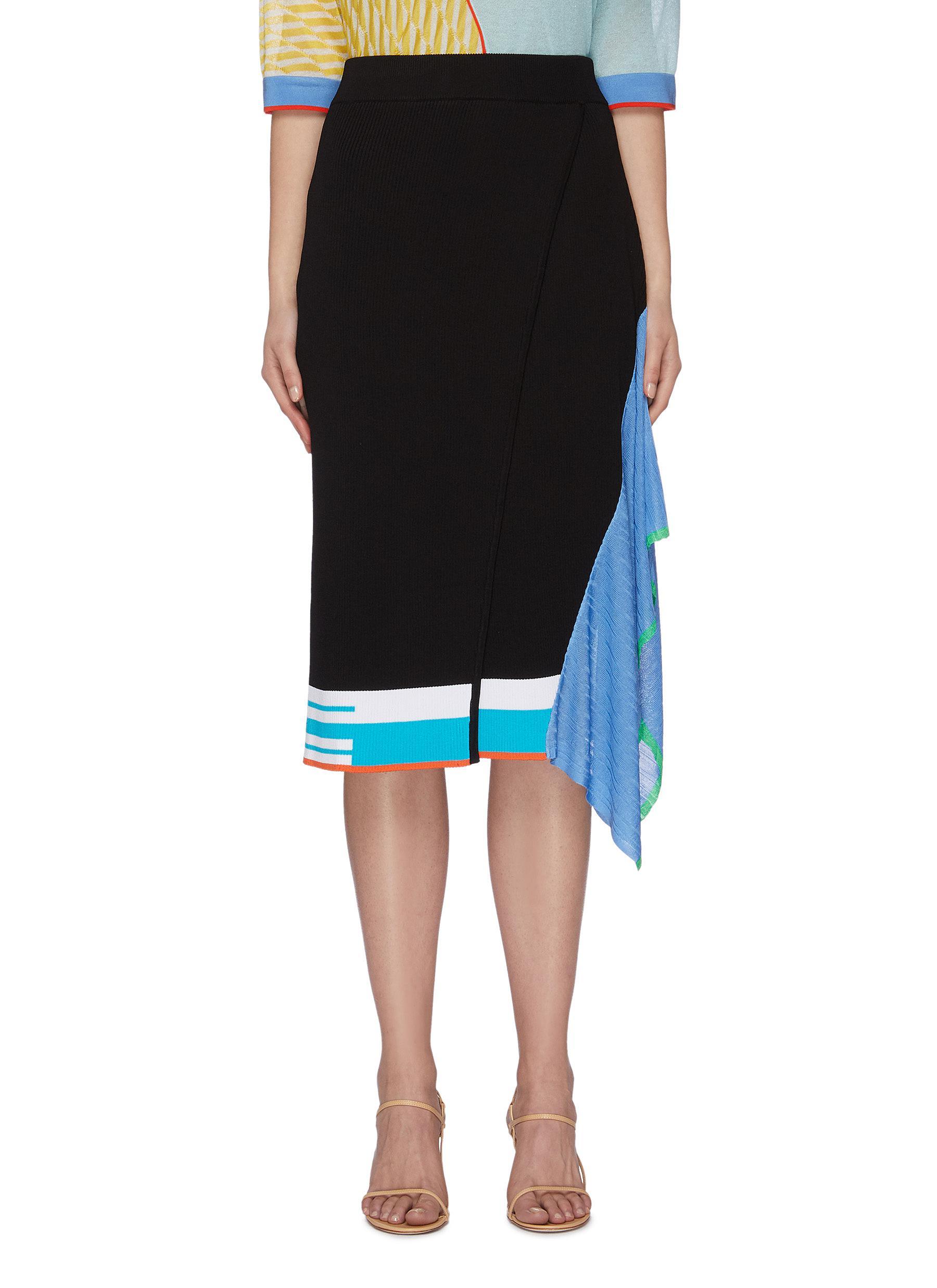 shop I-Am-Chen Colourblock panel handkerchief pencil skirt online