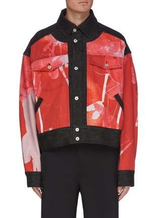 Main View - Click To Enlarge - FENG CHEN WANG - x Lane Crawford Graphic print panelled denim jacket
