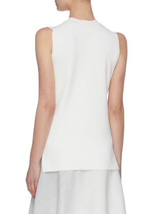 Back View - Click To Enlarge - SWAYING - Twist sheer panel sleeveless knit top