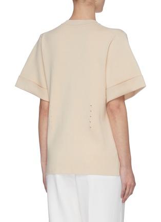 Detail View - Click To Enlarge - SWAYING - Back clasp asymmetric hem T-shirt