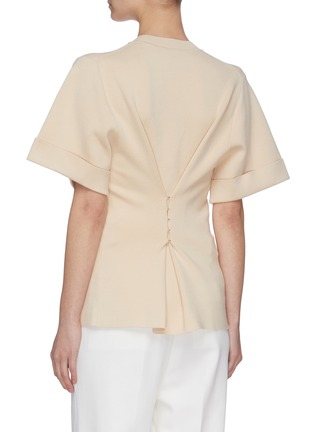 Back View - Click To Enlarge - SWAYING - Back clasp asymmetric hem T-shirt