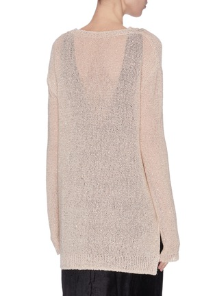 Back View - Click To Enlarge - SWAYING - Crewneck shimmering sweater