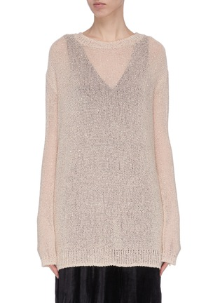 Main View - Click To Enlarge - SWAYING - Crewneck shimmering sweater