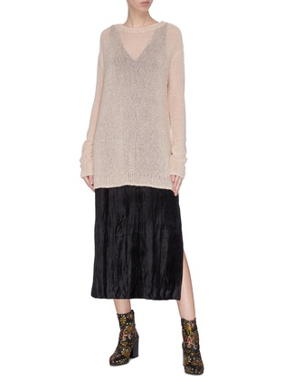 Figure View - Click To Enlarge - SWAYING - Crewneck shimmering sweater