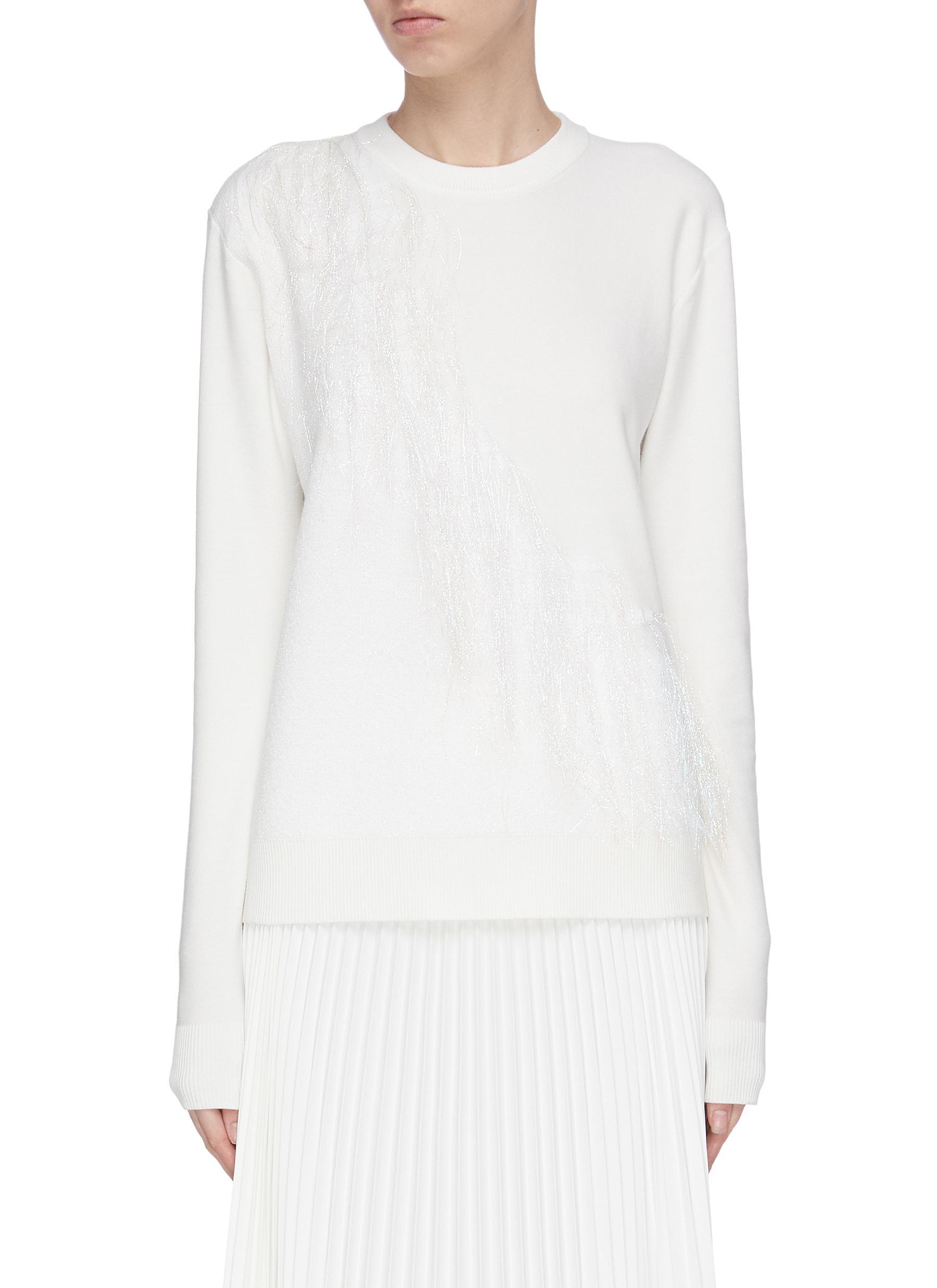 shop Swaying Shimmer fringe knit sweater online