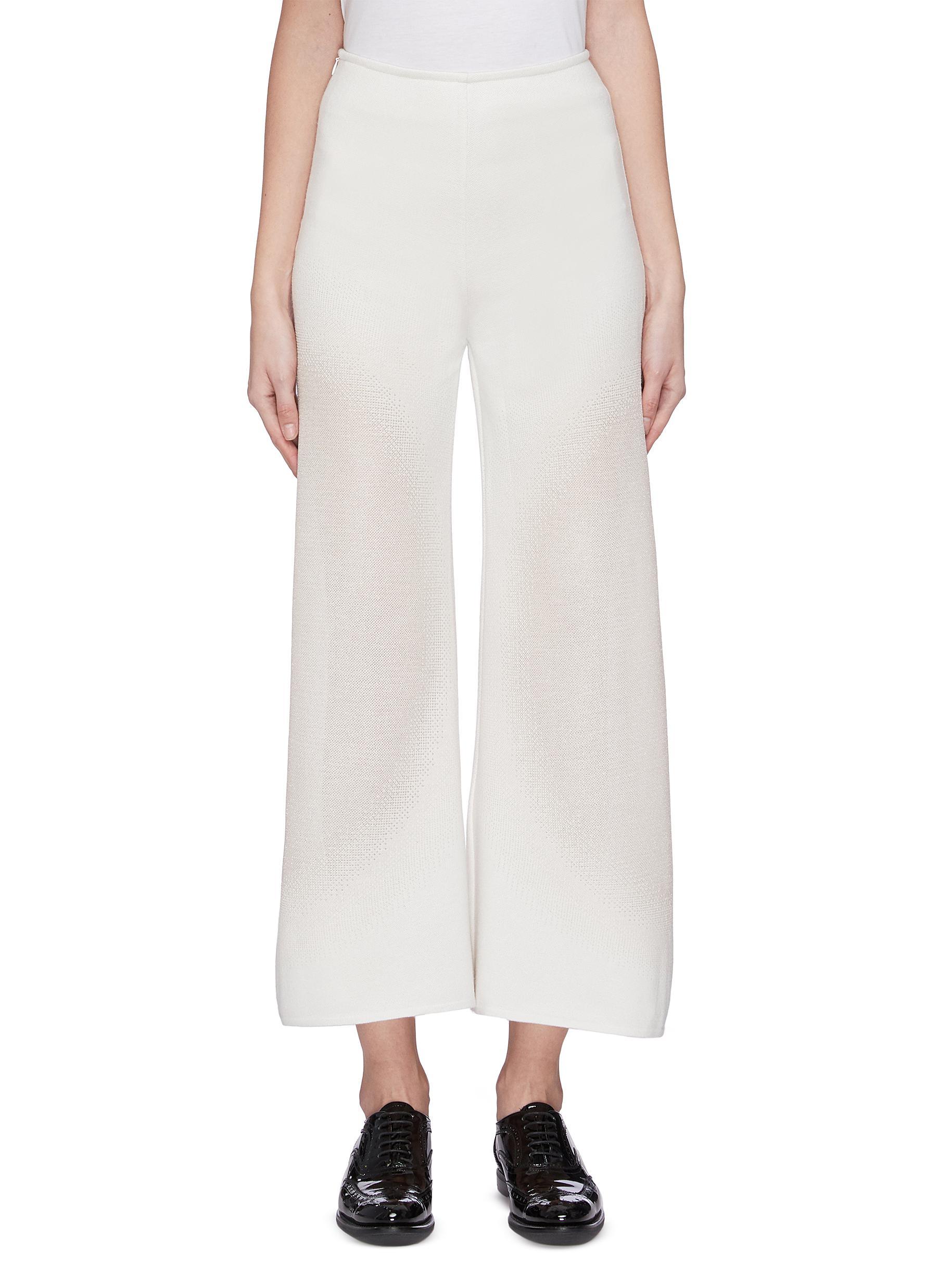 shop Swaying High waist wide leg knit pants online