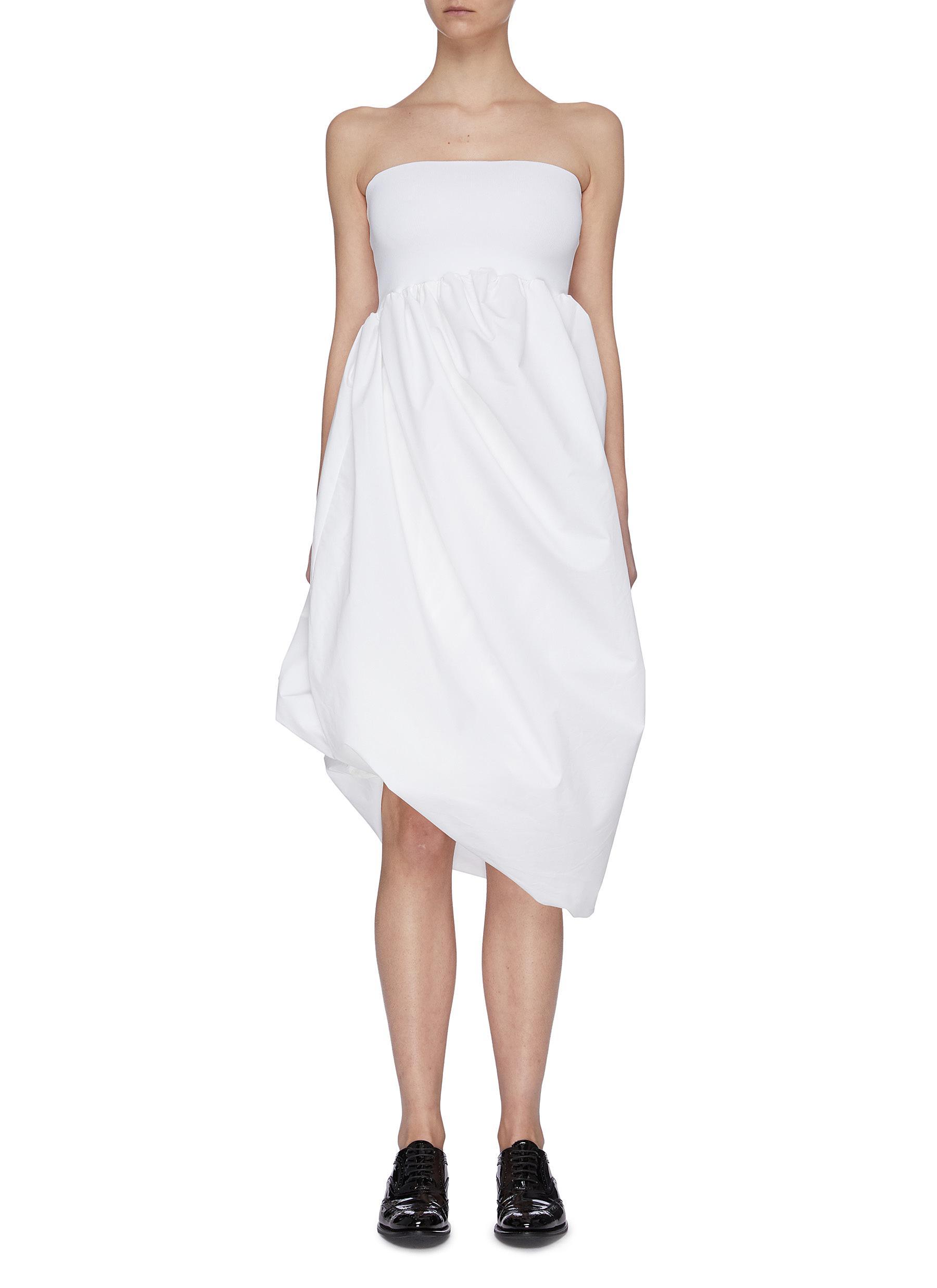 shop Swaying Gathered puff sleeveless dress online