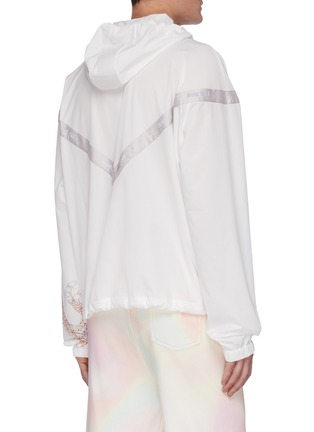 Back View - Click To Enlarge - ANGEL CHEN - Embroidered Tiger Print Sleeve Anorak