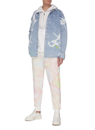 Figure View - Click To Enlarge - ANGEL CHEN - Embroidered Tiger Print Sleeve Anorak