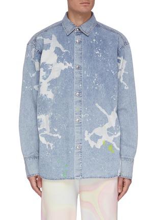 Main View - Click To Enlarge - ANGEL CHEN - Paint Splash Denim Shirt
