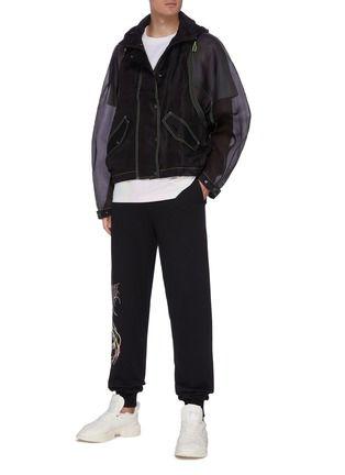Figure View - Click To Enlarge - ANGEL CHEN - Logo Embroidered Panel Jacket