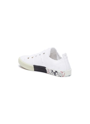 - MAISON MARGIELA - Flat low top distressed sneakers