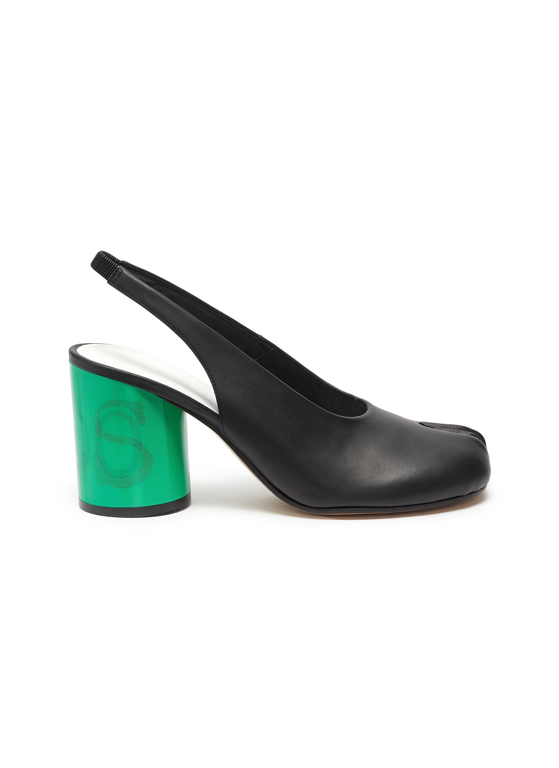 Maison Margiela High Heels Tabi Yes No lenticular heel slingback pumps