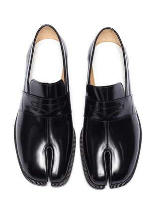 Detail View - Click To Enlarge - MAISON MARGIELA - Tabi' flat leather loafers