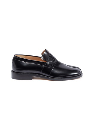Main View - Click To Enlarge - MAISON MARGIELA - Tabi' flat leather loafers