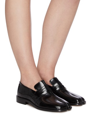 Figure View - Click To Enlarge - MAISON MARGIELA - Tabi' flat leather loafers