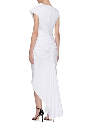 Back View - Click To Enlarge - 16ARLINGTON - Pleated Asymmetric Dress