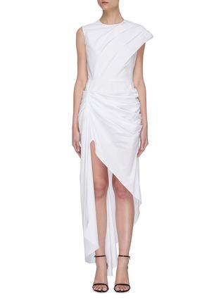 Main View - Click To Enlarge - 16ARLINGTON - Pleated Asymmetric Dress