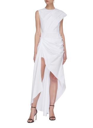 Figure View - Click To Enlarge - 16ARLINGTON - Pleated Asymmetric Dress