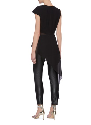 Back View - Click To Enlarge - 16ARLINGTON - 'Aster' Pleated Asymmetric Top