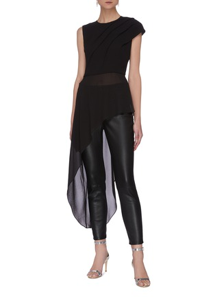 Figure View - Click To Enlarge - 16ARLINGTON - 'Aster' Pleated Asymmetric Top