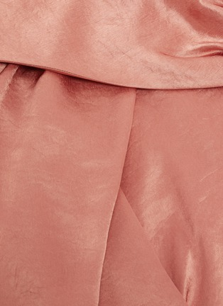 - NANUSHKA - 'Zena' twisted front one shoulder strap maxi dress