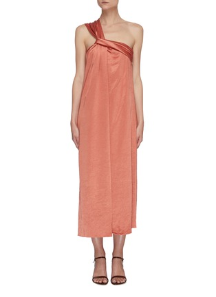 Main View - Click To Enlarge - NANUSHKA - 'Zena' twisted front one shoulder strap maxi dress