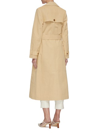 Back View - Click To Enlarge - NANUSHKA - 'Alex' fabric block trench coat