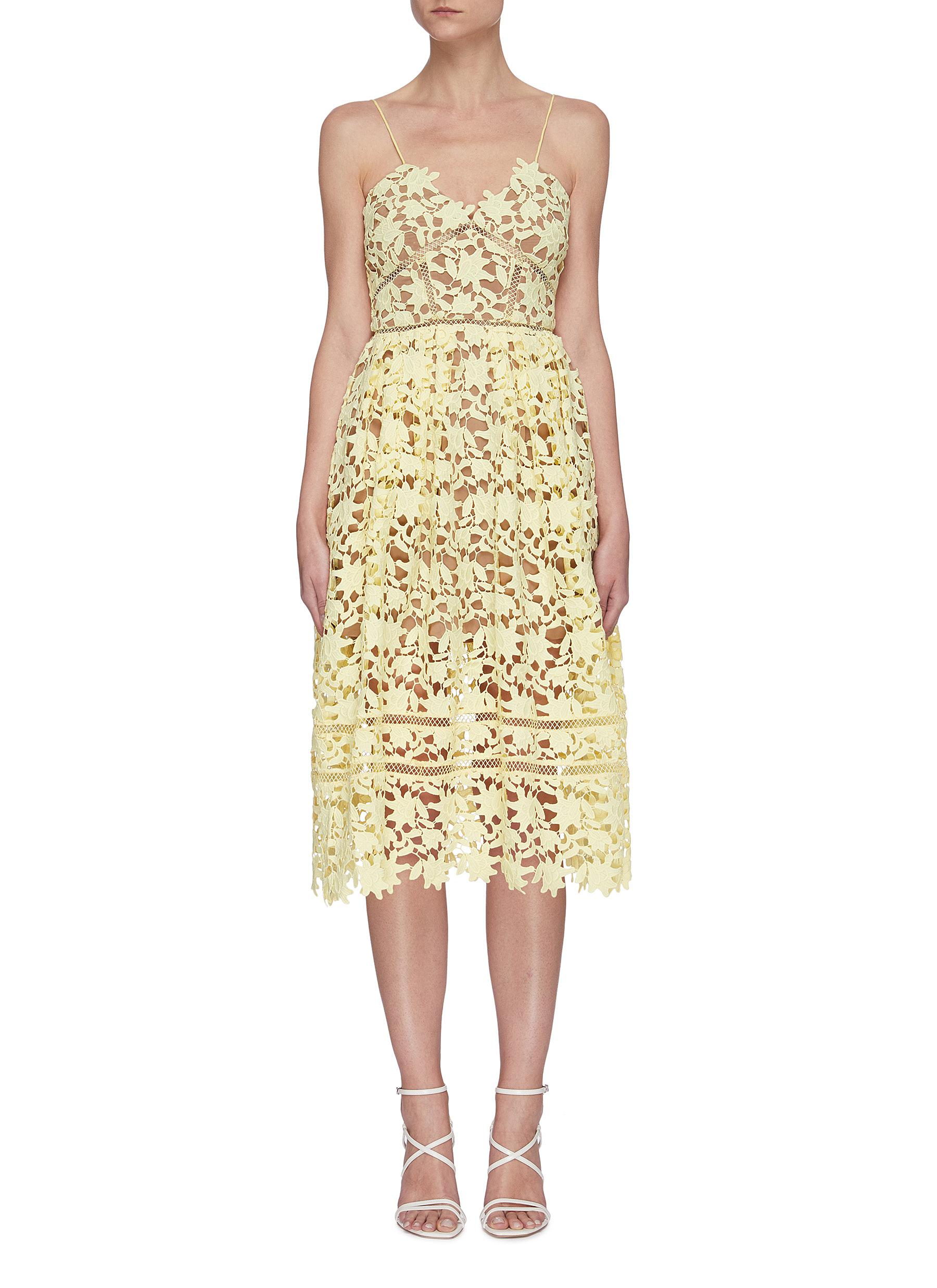 Buy Self-Portrait Dresses 'Azaelea' floral lace dress
