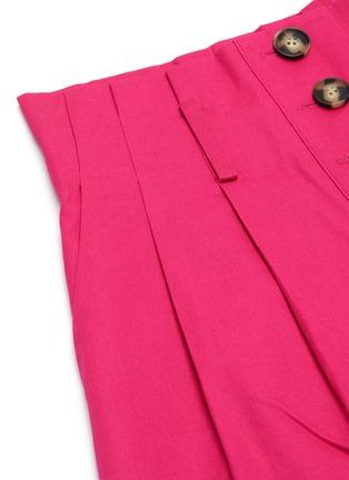 - SELF-PORTRAIT - Fuchsia belted canvas Bermuda shorts