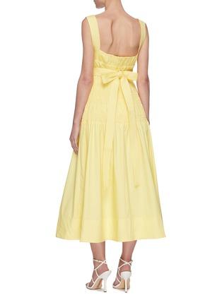 Back View - Click To Enlarge - SELF-PORTRAIT - Polka dot poplin dress
